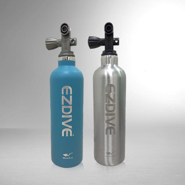 潜水造型双层不锈钢蓝银保温水瓶