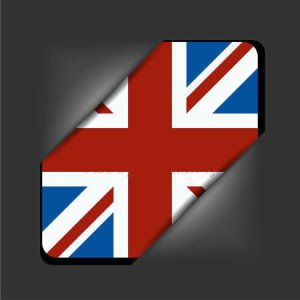 English flag button