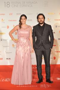 Ezekiel Montes y Elena Martinez Actriz durante Festival de Cine de Málaga