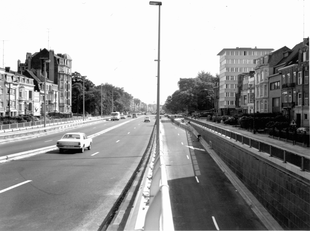 Le Viaduc Reyers en 1970 (Photo : BruCiel)