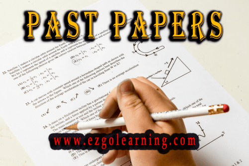 Past Papers Mcqs