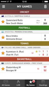 sports live scores on your mobile.