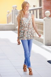 Together Crinkle Tank and Together Lace Detail Jeans