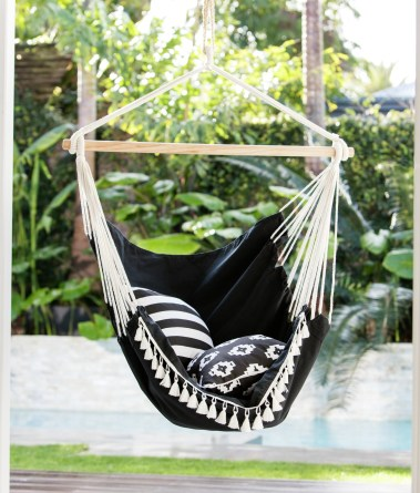 Hanging Chairs - perfect for you outdoor space after doing your Spring/Summer gardening