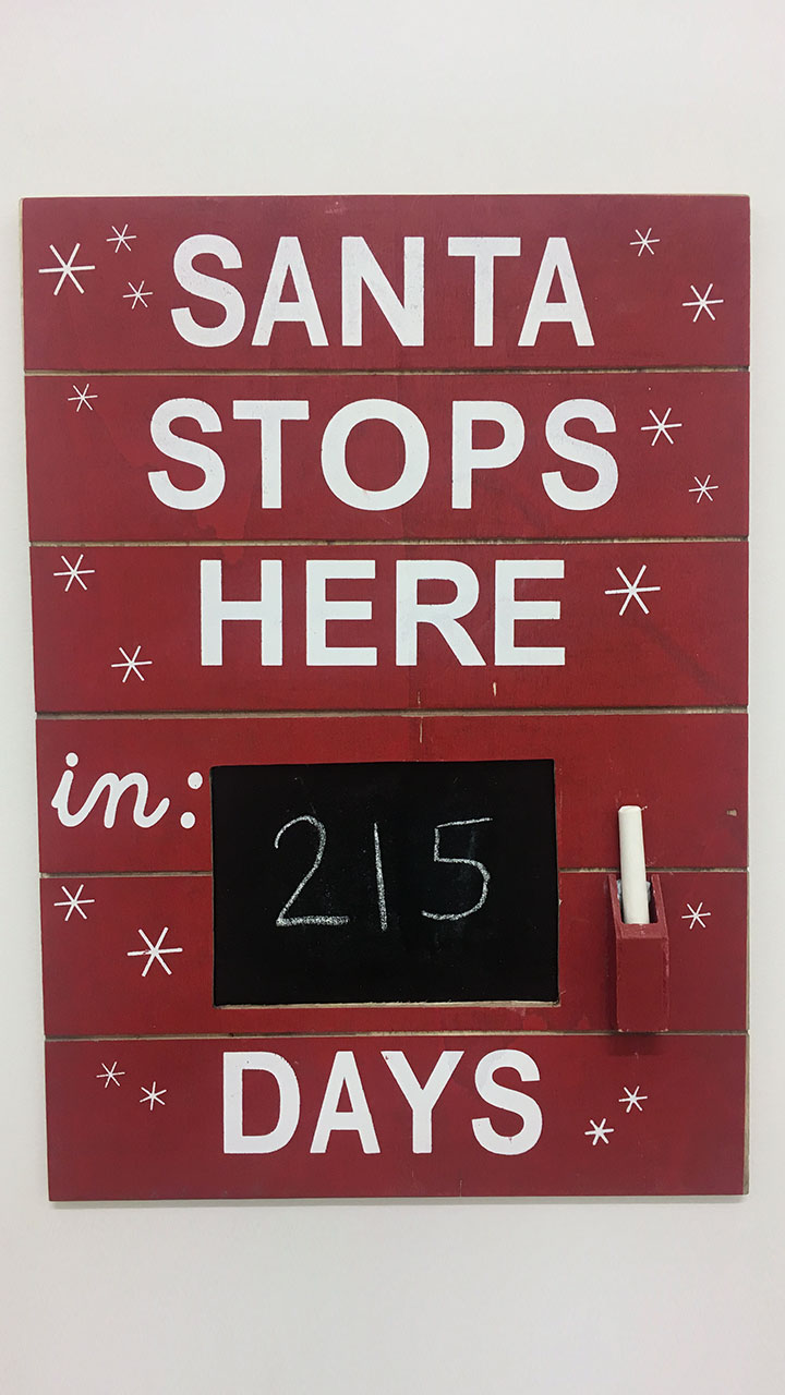 Sneek Peek! Come October you'll be able to shop the Countdown Wall Hanging Chalkboard.