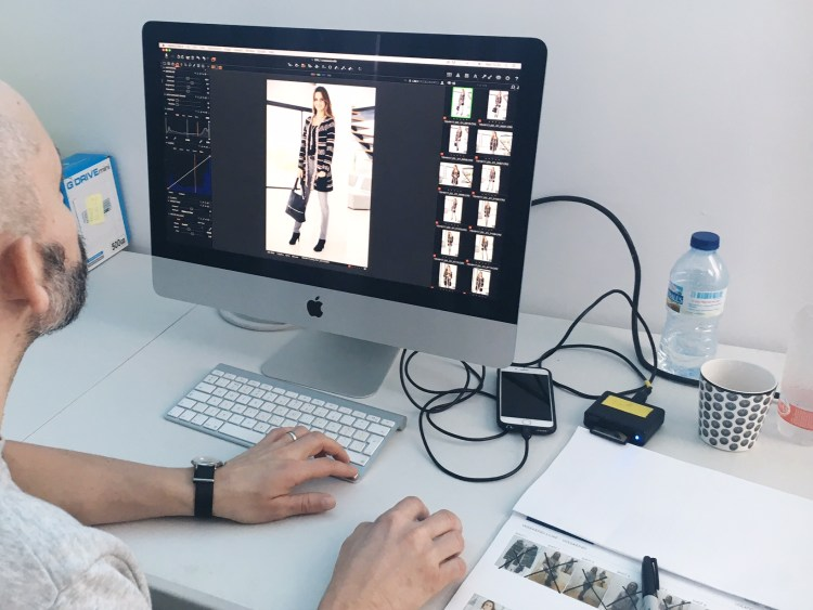 Digital editing of the photographs takes place throughout the day.
