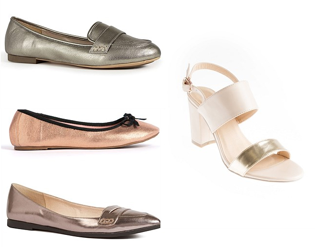 Next Split Sole Loafer | Metallic Ballet | Next Point Loafers | Slingback Block Heel