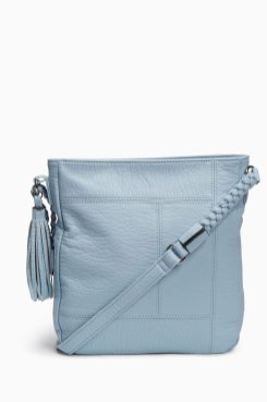 Next Blue Washed Messenger Bag