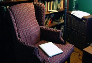 Pamela Hart's reading chair
