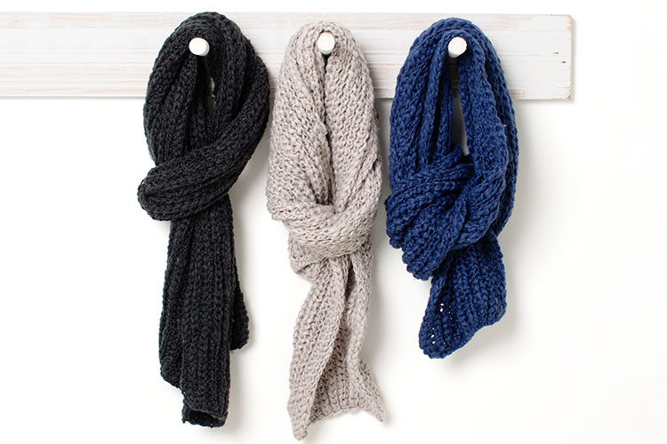 A trusty scarf adds warmth and changes the look of your outfit