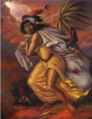 Kouwòn pou Defile - Haiti Warrior queen Defile, who like Goddess Aset, gathered the pieced of Heru/Desalin for the rebirth