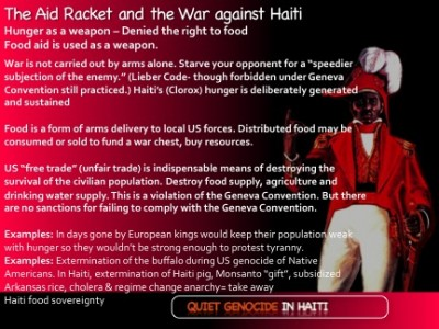 The Aid Racket: Food Aid and promoting hunger as a Weapon