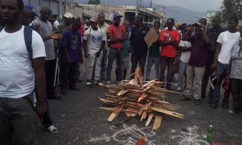 Haiti Protest Demonstration- Calling on the Warrior Earth Mother, Ezili Dantò, Feb 7, 2015