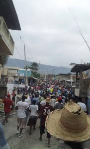 Haiti protest against dictatorship - Feb 7, 2015