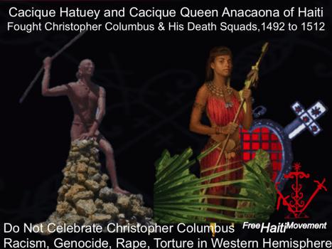 Queen Anacaona and Cacique Hatuey of Haiti