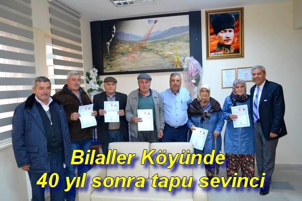 Bilaller Köyünde 40 yıl sonra tapu sevinci