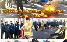 GESTAŞ Çanakkale İskelesi'nde Yangın Tatbikatı