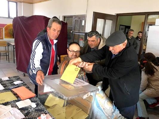 Bayramiç'te %99 Bedensel Engelli Seçmen Oyunu Kullandı