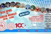 Ezine'de Ücretsiz Yaz Spor Okulları Açılıyor