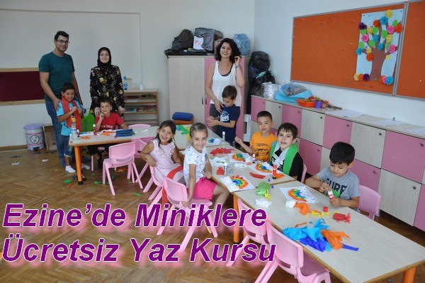 Ezine'de Miniklere Ücretsiz Yaz Kursu