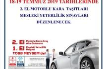 ÇTSO 2. El Motorlu Kara Taşıtları Sınavları Düzenleyecek