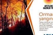AFAD orman yangınlarına karşı uyardı