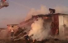 Ezine'de Anız Yangını