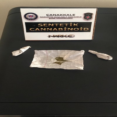 Çanakkale'de Uyuşturucu Operasyonunda 1 kişi tutuklandı