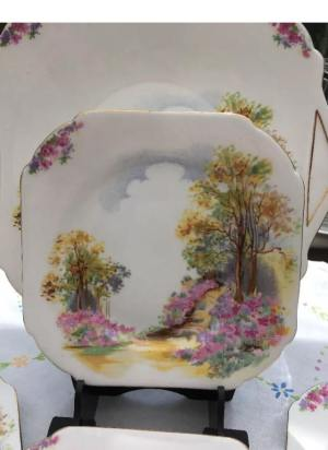 shelley set of tea plates
