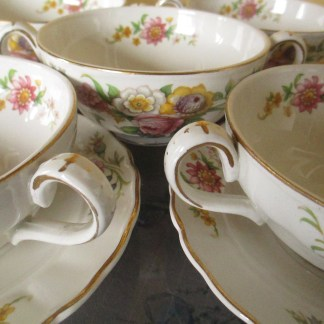 Vintage Marlborough Royal Patel Grindley soup bowls early 1920s