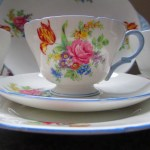 vintage shelley tea set c1940 davis tulip pattern