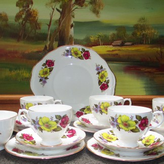 vintage full tea set for six