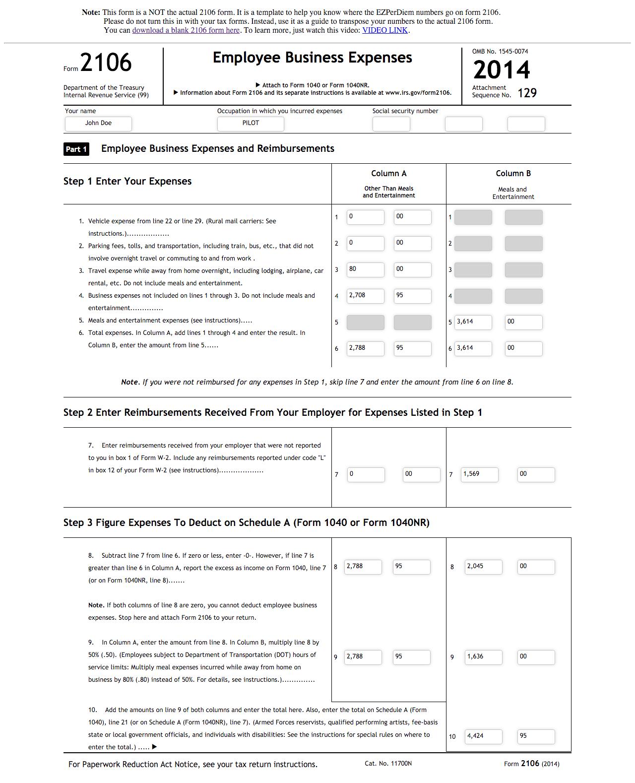 34 Airline Pilot Tax Deduction Worksheet