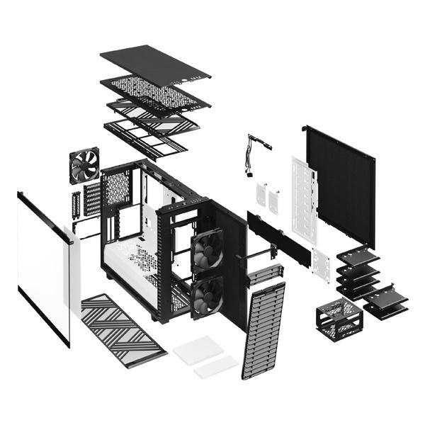 fractal design define 7 clear black white 9