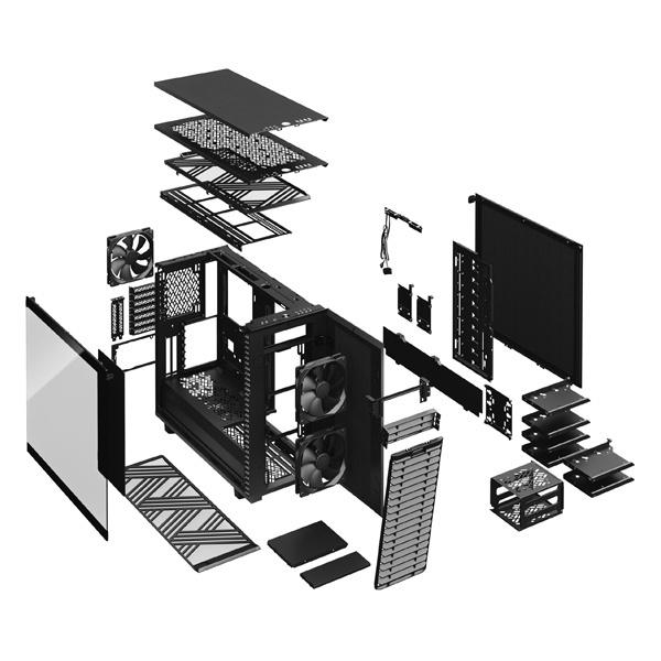 fractal design define 7 dark tg black 9