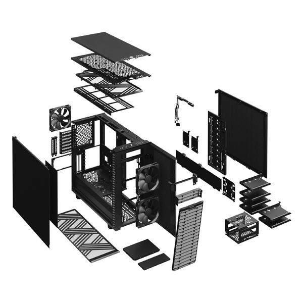 fractal design define 7 xl solid black 9