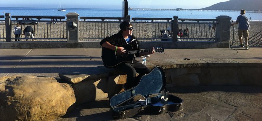 Ezra Henderson Busking At Avila Beach