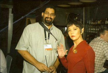 Me with a Vulcan at the Las Vegas Star Trek Experience