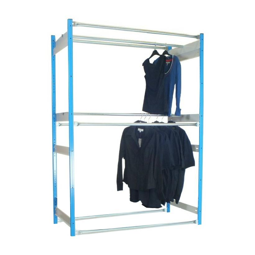 2 tier garment racking inboard