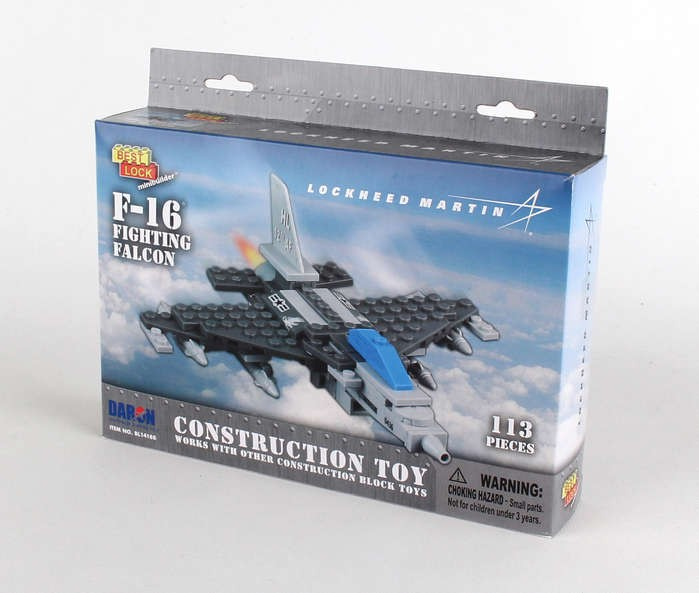 Best Lock construction toys 113 Piece F 16 Fighting Falcon Jet W     113 Piece F 16 Fighting Falcon Jet W Action Figure BL14188 by Best