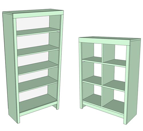 Bookcase Plans - Easy to Build Bookcase or Bookshelf for Beginners ...