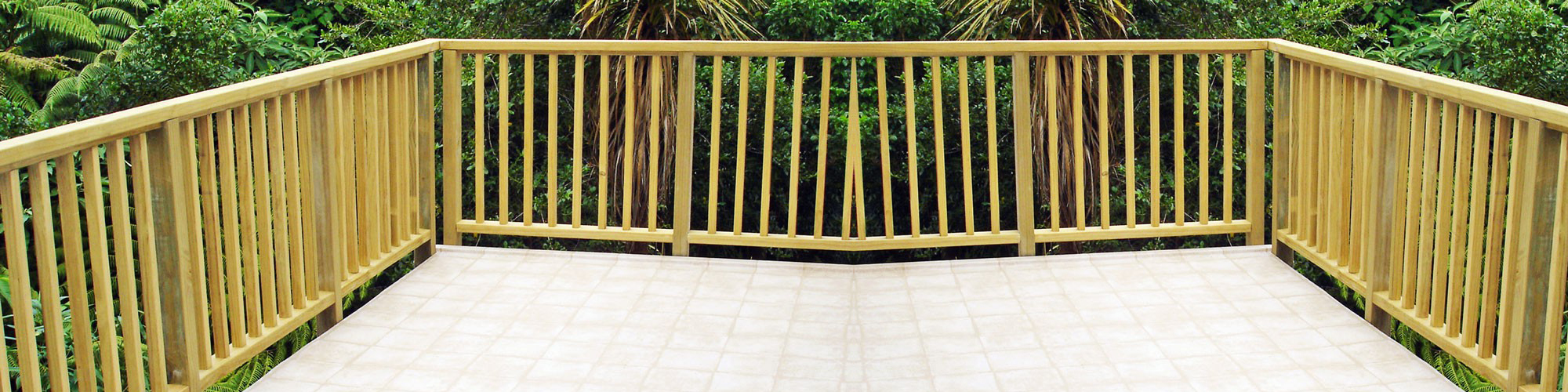 Timber Balustrades   Safeguard Your Deck With Wooden Rails   EzyDeck
