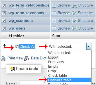 optimize database