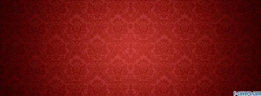 Red Damask Pattern Facebook Cover Timeline Photo Banner For Fb