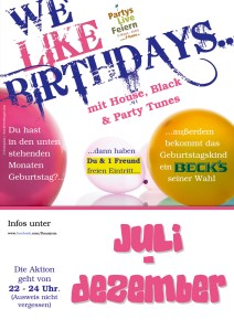 We Like Birthdays @ F-Haus | Jena | Thüringen | Deutschland