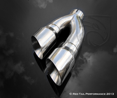 side exit dual exhaust tips f150