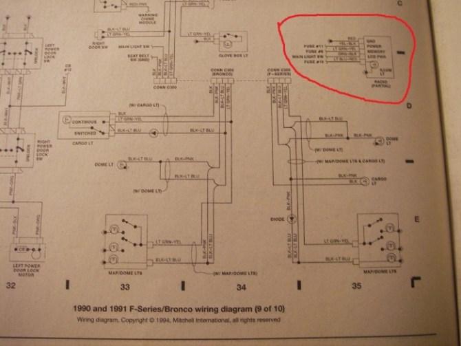 1991 ford f250 radio wiring diagram  wiring diagram power