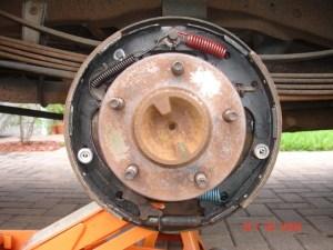 Problem reinstalling drum after replacing rear brake shoes