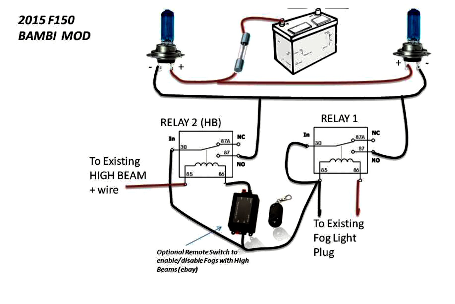 Fog Light Wiring Diagram No Relay