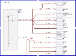 Wiring diagram for 2006 F150; harness in drivers side dash
